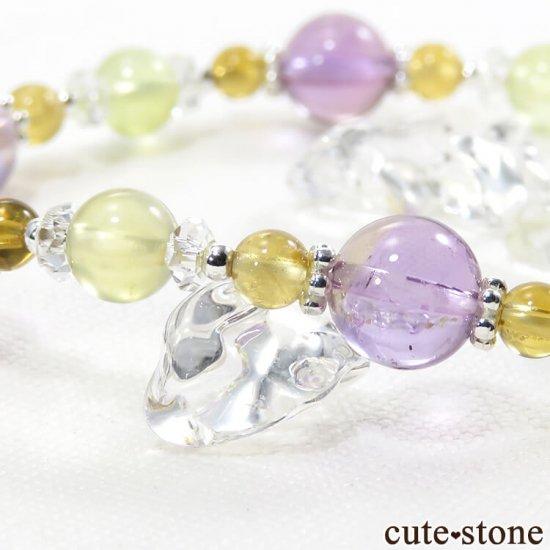 【FLOWER】 アメトリン プレナイト シトリン 水晶のブレスレットの写真3 cute stone