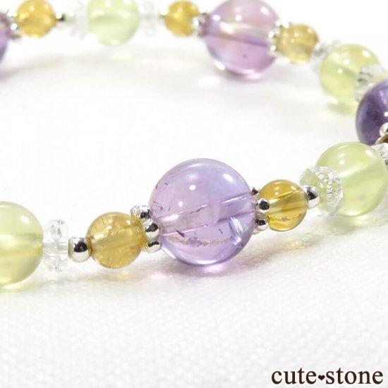 【FLOWER】 アメトリン プレナイト シトリン 水晶のブレスレットの写真4 cute stone