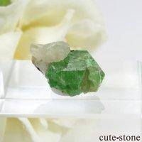 タンザニア産 ツァボライト&ダイオプサイトの結晶(原石) 7.3ctの画像