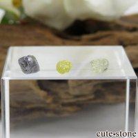 ザンビア産 ダイヤモンドの原石 3点セット No.2の画像