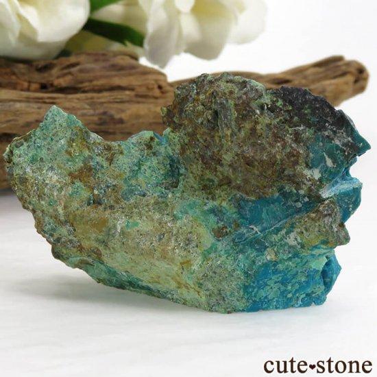 アメリカ Morenci Mine産 クリソコラのスライス(原石)22gの写真0 cute stone