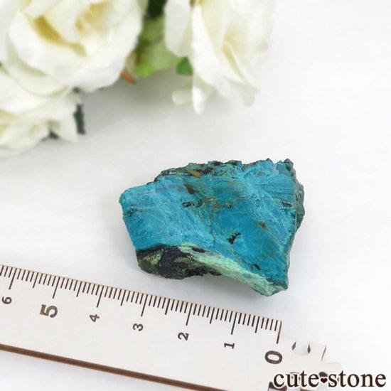 アメリカ Morenci Mine産 クリソコラのスライス(原石)26.4gの写真2 cute stone