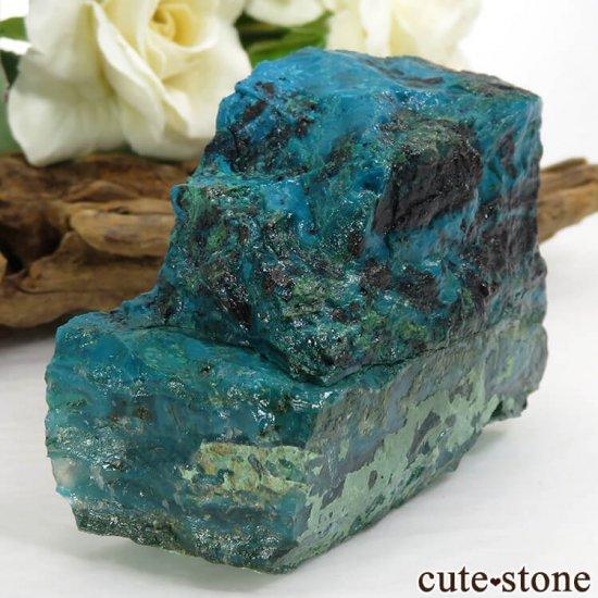 アメリカ Morenci Mine産 クリソコラのスライス(原石)117.7gの写真1 cute stone