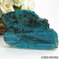 アメリカ Morenci Mine産 クリソコラのスライス(原石)117.7gの画像