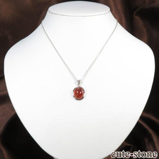 ファイアークォーツ(レピドクロサイトインクォーツ)オーバル型のペンダントトップの写真4 cute stone