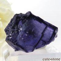 ヤオガンシャン産 パープルブルーフローライトの結晶(原石)15gの画像