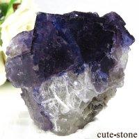メキシコ Tule Mine産 パープルブルーフローライトの結晶(原石)64.7gの画像