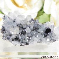 ルーマニア カヴニク鉱山産 ガレナ&クォーツの母岩付き結晶(原石) 23.2gの画像