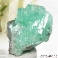 コロンビア ムゾー鉱山産 エメラルドの母岩付き結晶(原石)10gの画像
