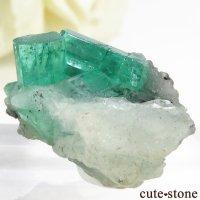 コロンビア ムゾー鉱山産 エメラルドの母岩付き結晶(原石)7.5gの画像