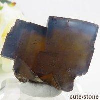 フランス Valzergues産 イエローブルーフローライトの結晶(原石)59gの画像
