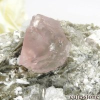 パキスタン Chumar Bakhoor産 ピンクフローライト&スペサルティンガーネットの母岩付き結晶(原石) 147gの画像