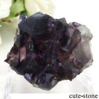 中国 内モンゴル産 パープルフローライトの結晶(原石) 45.8gの画像