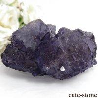 メキシコ Tule Mine産 パープルフローライトの結晶(原石)360gの画像