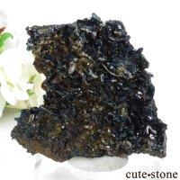 カナダ ユーコン ラピッドクリーク産 ラズライト(天藍石)の母岩付き結晶(原石) 53.5gの画像