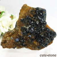 カナダ ユーコン ラピッドクリーク産 ラズライト(天藍石)の母岩付き結晶(原石) 63.5gの画像