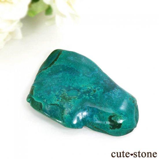 コンゴ産 クリソコラ&マラカイトのポリッシュ(原石)38g