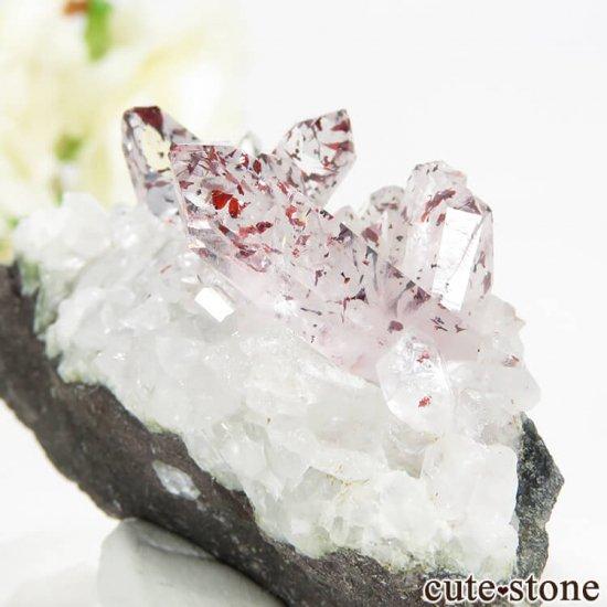 ナミビア エロンゴ産 レピドクロサイトインクォーツ(ファイアークォーツ)の母岩付き結晶 27.7gの写真2 cute stone