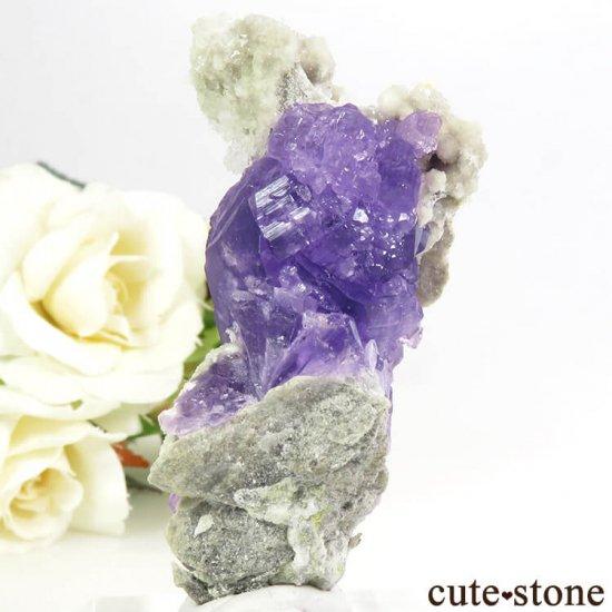 イタリア Monte Arsiccio Mine産 コキンバイトの母岩付き結晶(原石)33.2gの写真2 cute stone
