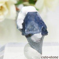 カリフォルニア産 ベニトアイトの母岩付き結晶(原石) 1.8gの画像