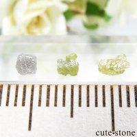 ザンビア産 ダイヤモンドの原石 3点セット No.6の画像