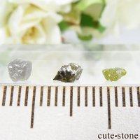 ザンビア産 ダイヤモンドの原石 3点セット No.9の画像