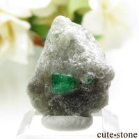 パキスタン スワート産の母岩付きエメラルドの原石(標本)3gの画像