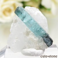 アフガニスタン Dara-i-Pech pegmatite field産 ブルーグリーントルマリンの母岩付き結晶 2.2gの画像