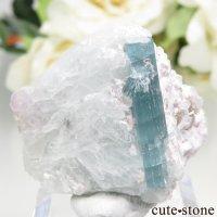 アフガニスタン Dara-i-Pech pegmatite field産 ブルーグリーントルマリンの母岩付き結晶 24.3gの画像