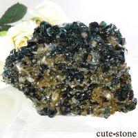カナダ ユーコン ラピッドクリーク産 ラズライト(天藍石)&クォーツの母岩付き結晶(原石) 72.8gの画像
