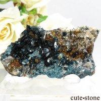 カナダ ユーコン ラピッドクリーク産 ラズライト(天藍石)&クォーツの母岩付き結晶(原石) 15.5gの画像