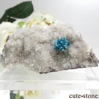 インド プネー産 カバンサイト&カルサイトの母岩付き結晶(原石) 32.8gの画像