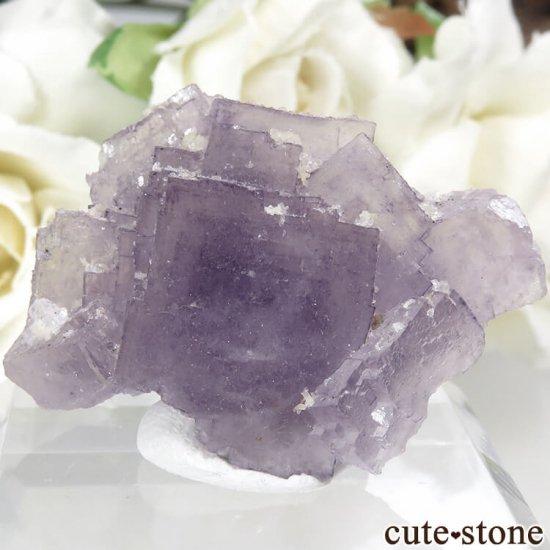 フランス Fontsante Mine産 パープルフローライトの結晶(原石)18.8g