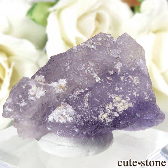 フランス Fontsante Mine産 パープルフローライトの結晶(原石)18.8gの写真1 cute stone