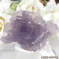 フランス Fontsante Mine産 パープルフローライトの結晶(原石)18.8gの画像