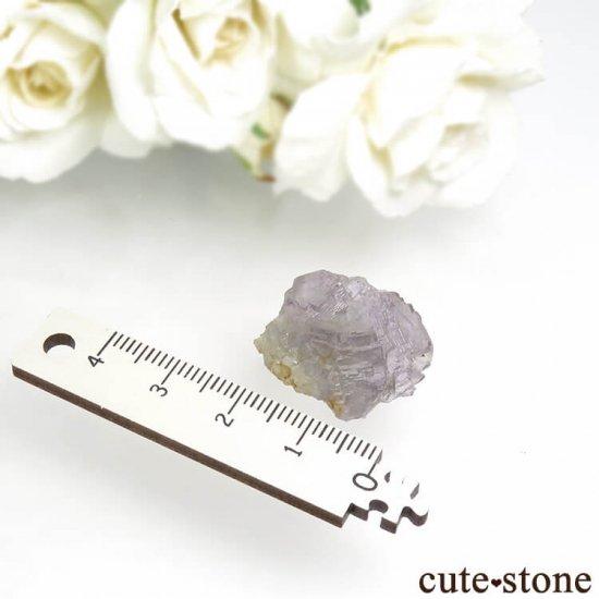 フランス Fontsante Mine産 ライトパープル×ライトブルーグリーンフローライトの結晶(原石)6.6gの写真4 cute stone