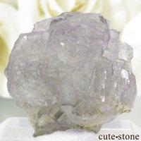 フランス Fontsante Mine産 ライトパープル×ライトブルーグリーンフローライトの結晶(原石)6.6gの画像