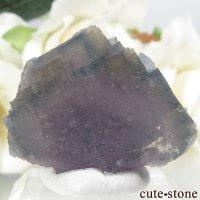 フランス Fontsante Mine産 パープル×ブルー×イエローフローライトの結晶(原石)17.1gの画像