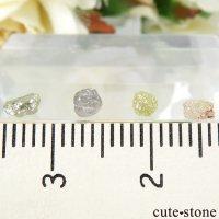 ザンビア産 ダイヤモンドの原石 4点セット No.13の画像