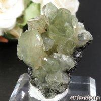 タンザニア産 ダイオプサイト&ツァボライトの結晶(原石)13.7gの画像