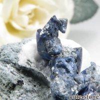 カリフォルニア産 ベニトアイトの母岩付き結晶(原石) 5.9gの画像