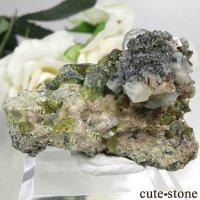 パキスタン スカルドゥ産 スフェーン&カルサイトの母岩付き原石 36.3gの画像
