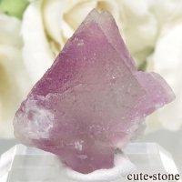 アメリカ ニューメキシコ州 Surprise Mine産 パープル×グリーンフローライトの結晶(原石) 9.9gの画像
