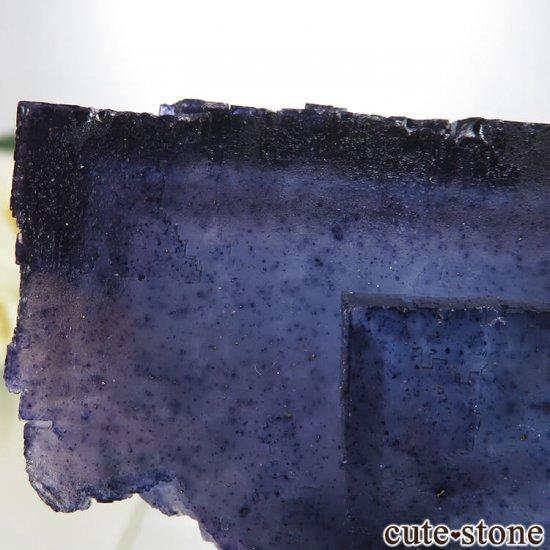 イリノイ州 Denton Mine産ブルーフローライトの原石 202gの写真3 cute stone