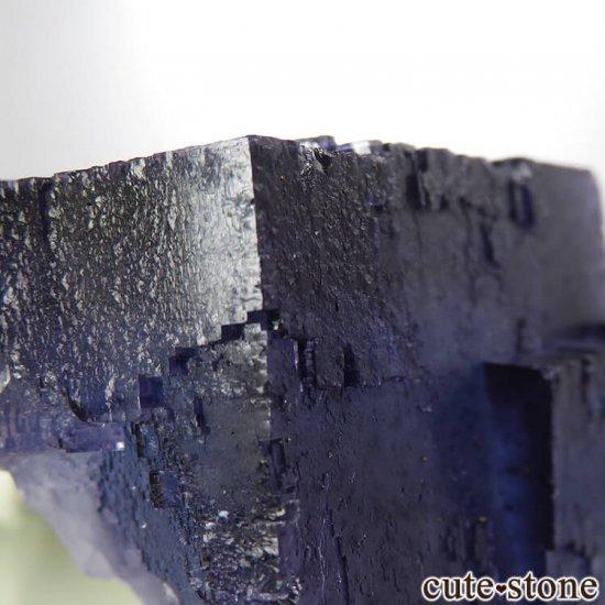 イリノイ州 Denton Mine産ブルーフローライトの原石 202gの写真6 cute stone