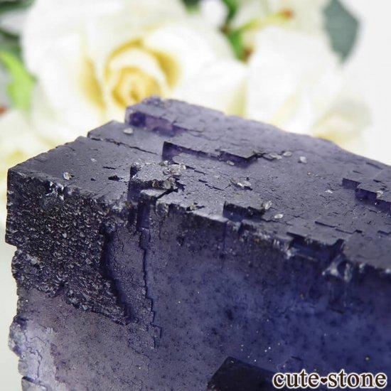 イリノイ州 Denton Mine産ブルーフローライトの原石 202gの写真7 cute stone