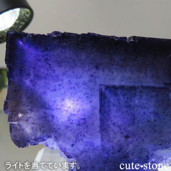 イリノイ州 Denton Mine産ブルーフローライトの原石 202gの写真8 cute stone