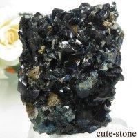 カナダ ユーコン ラピッドクリーク産 ラズライト(天藍石)&クォーツ&シデライトの母岩付き結晶(原石) 52gの画像