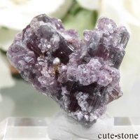 ブラジル ミナスジェライス産 ウォーターメロントルマリン&レピドライトの結晶(原石)4gの画像