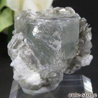 パキスタン Chumar Bakhoor産 アクアマリン&モスコバイトの結晶(原石) 25gの画像